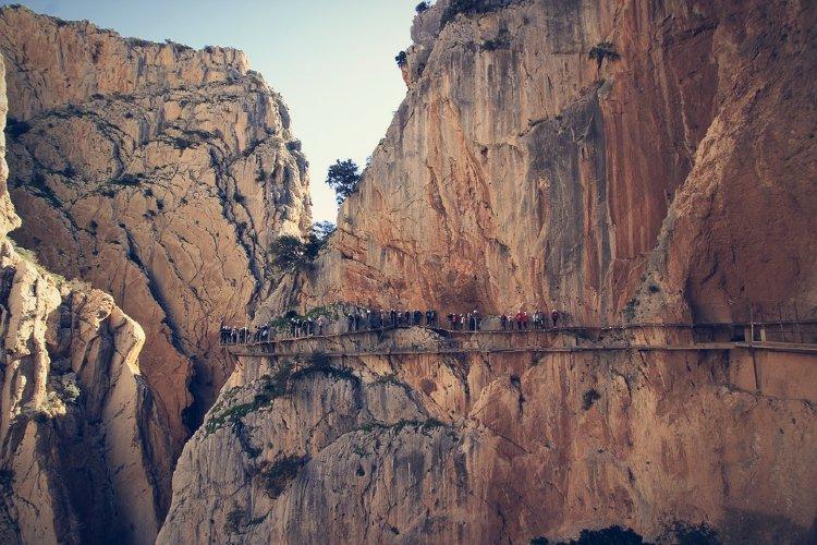 Excursión al Caminito del Rey desde Málaga. Desfiladero