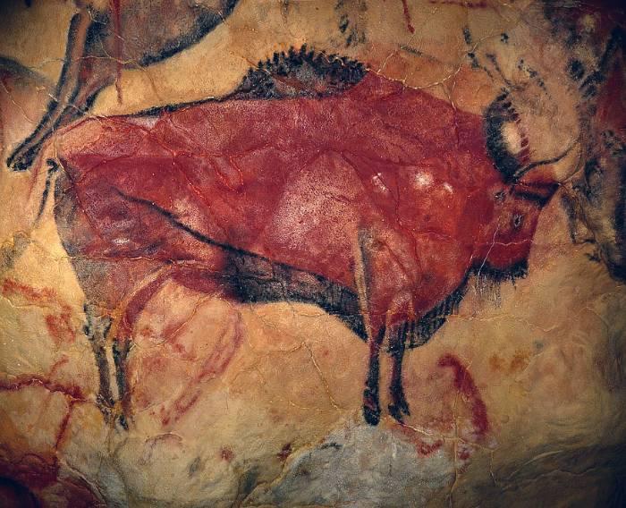 Pintura de bisonte en Cueva de Altamira