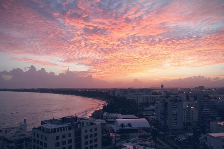 El ocaso en San Juan de Puerto Rico