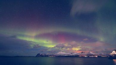 aurora boreal en tromso noche noruega