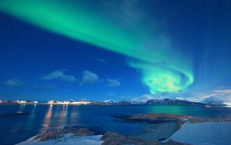 aurora boreal en tromso noruega