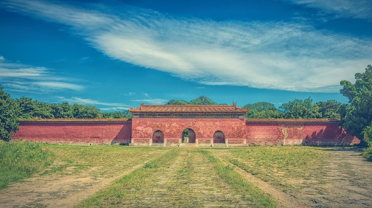 Templo tumbas Ming China