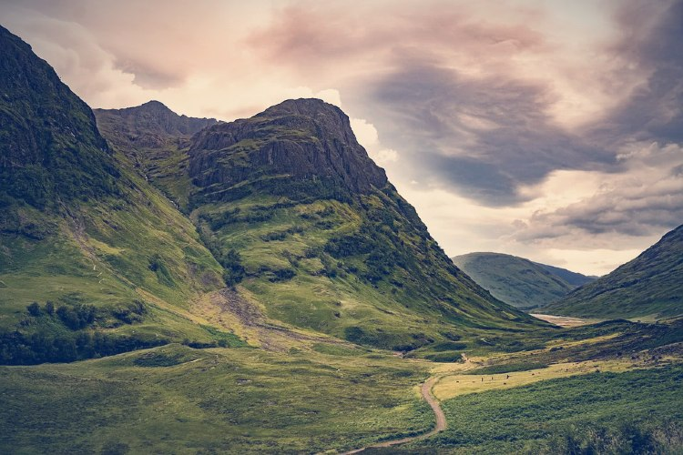 Lago Ness desde Edimburgo. Valle de Glencoe en Edimburgo