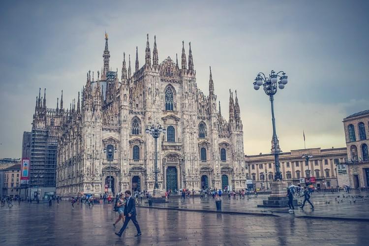 Visita a Milán. Plaza del Duomo
