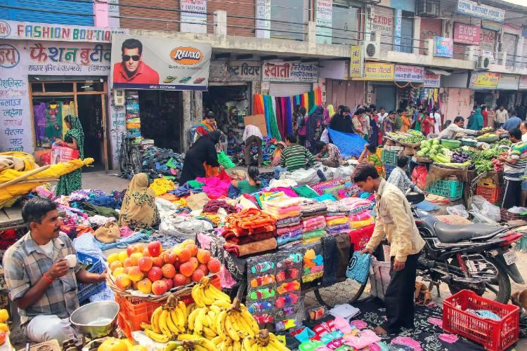 Bazar en Agra