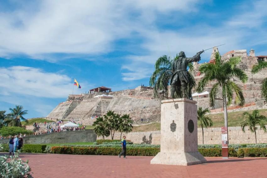 Cartagena de Indias. Estatua de Blas de Lezo